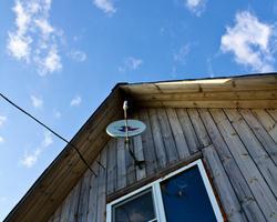 Дом, антенна, небо
