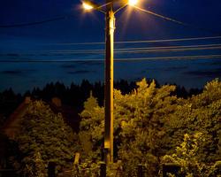 Фонарь ночью